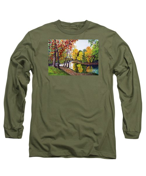 Along The Blanchard Long Sleeve T-Shirt by Nancy Cupp