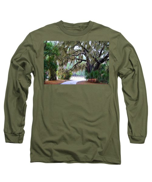 Long Sleeve T-Shirt featuring the photograph Along The Path by Kathryn Meyer