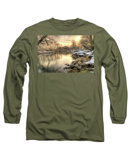 Along The Thames River Signed Long Sleeve T-Shirt