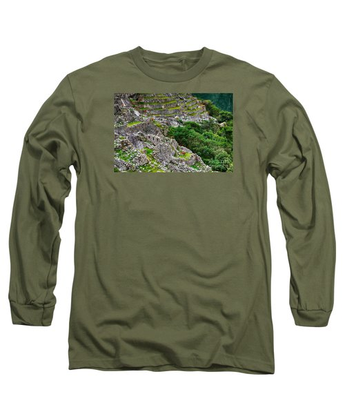 Alpacas At Machu Picchu Long Sleeve T-Shirt
