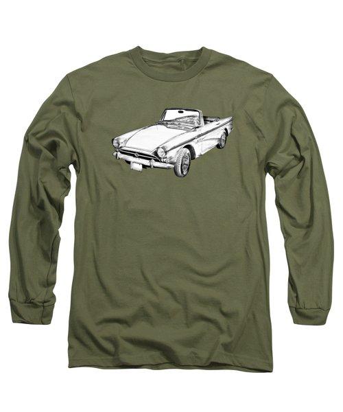 Alpine 5 Sports Car Illustration Long Sleeve T-Shirt