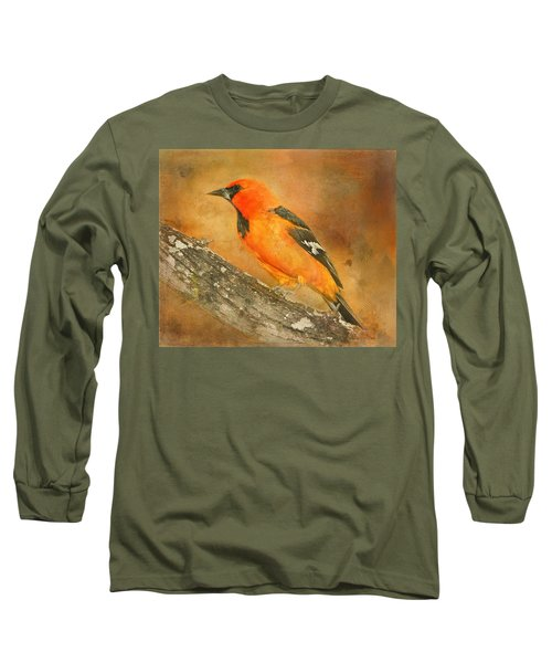 Long Sleeve T-Shirt featuring the photograph Altamira Oriole by Bellesouth Studio