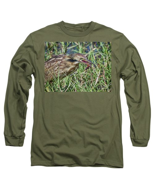 Am Bittern And Crayfish Long Sleeve T-Shirt