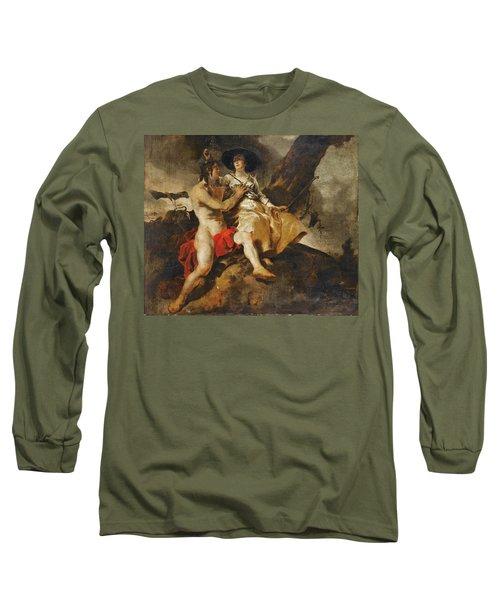 Amaryllis Crowning Mirtillo Long Sleeve T-Shirt