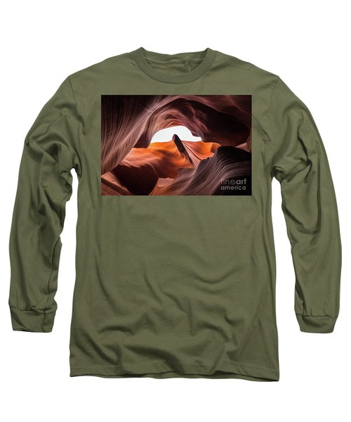 Amazing Antelope Canyon Long Sleeve T-Shirt by JR Photography