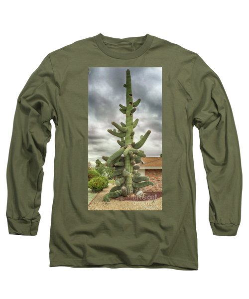 Arizona Christmas Tree Long Sleeve T-Shirt by Anne Rodkin