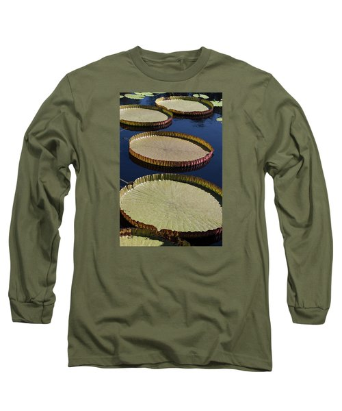 Amazonas Lily Pads II Long Sleeve T-Shirt by Suzanne Gaff