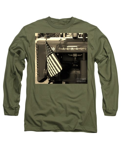Long Sleeve T-Shirt featuring the photograph American Farmall by Meagan  Visser