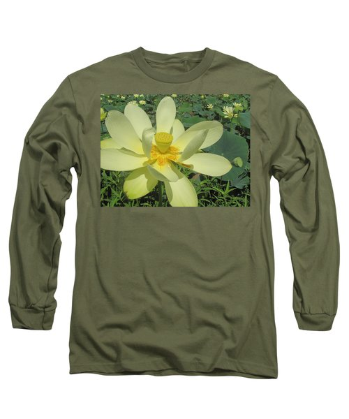 American Lotus Long Sleeve T-Shirt