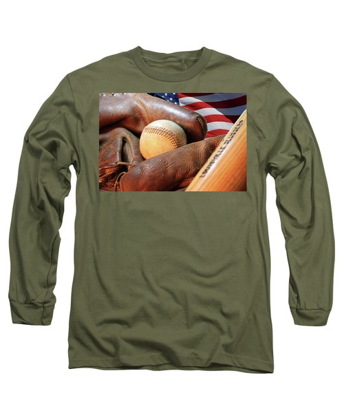 Americas Pastime Long Sleeve T-Shirt by Pat Cook