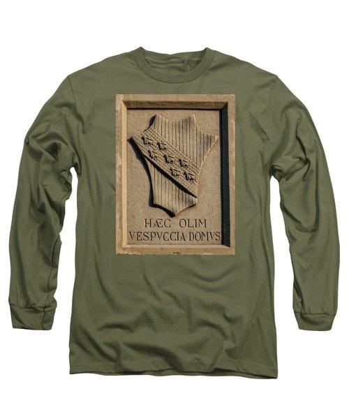 Amerigo Vespucci Lived Here Long Sleeve T-Shirt
