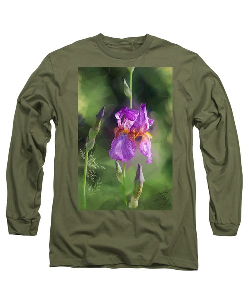 Amethyst Iris 2 Long Sleeve T-Shirt