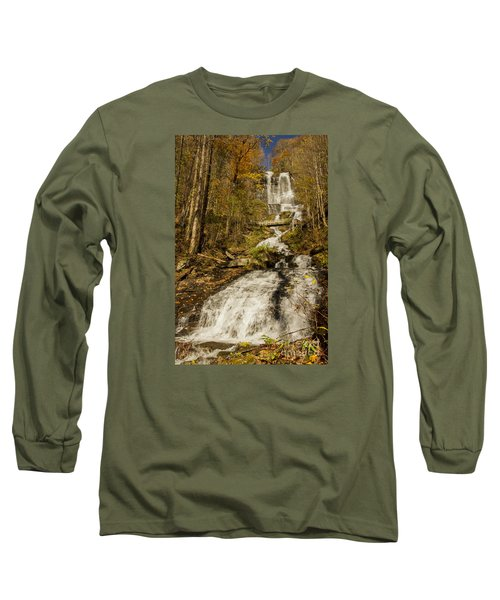 Amicola Falls Gushing Long Sleeve T-Shirt by Barbara Bowen