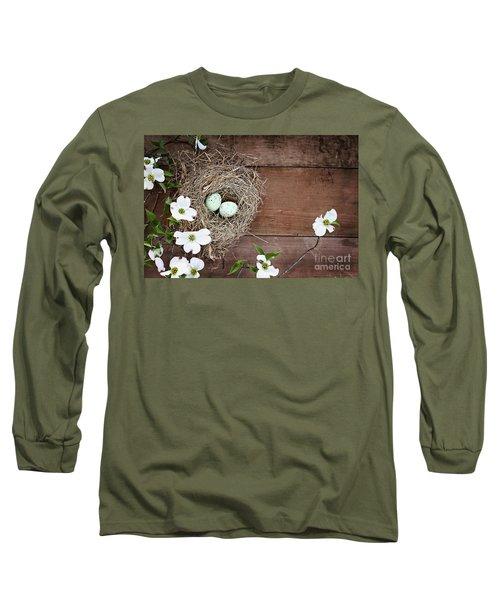 Amid The Dogwood Blossoms Long Sleeve T-Shirt by Stephanie Frey