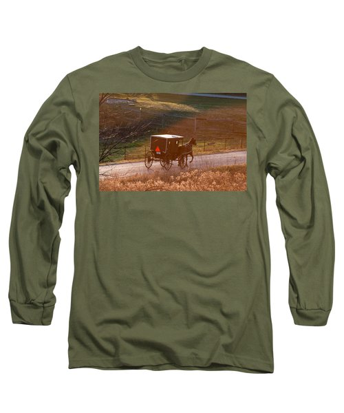Amish Buggy Afternoon Sun Long Sleeve T-Shirt
