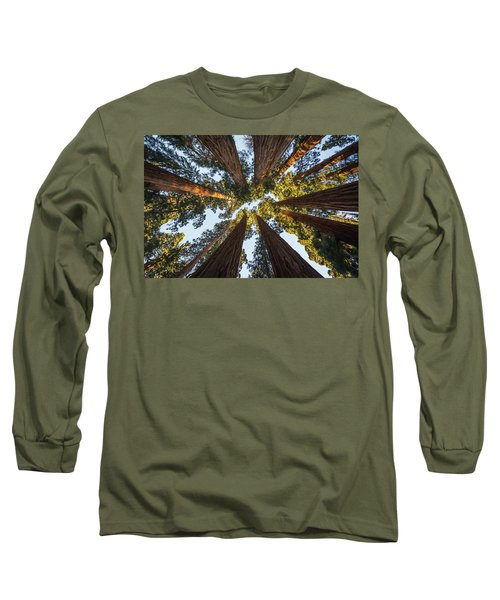 Amongst The Giant Sequoias Long Sleeve T-Shirt by Alpha Wanderlust