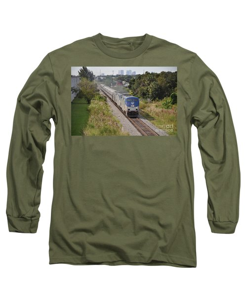 Long Sleeve T-Shirt featuring the photograph Amtrak Silver Star by John Black