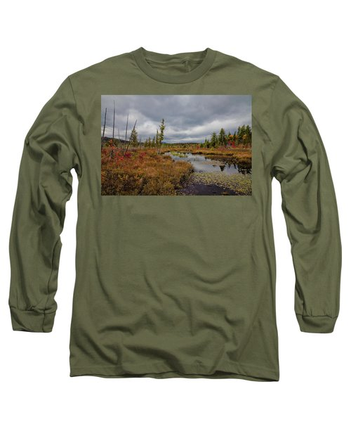 Long Sleeve T-Shirt featuring the photograph An Autumn Afternoon On Raquette Lake by David Patterson