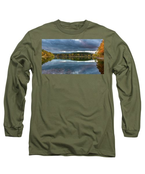 An Autumn Evening At The Lake Long Sleeve T-Shirt by Andreas Levi