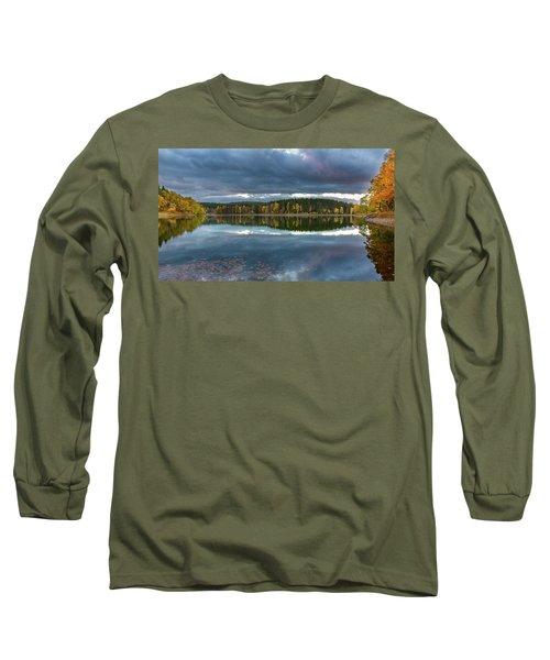 An Autumn Evening At The Lake Long Sleeve T-Shirt