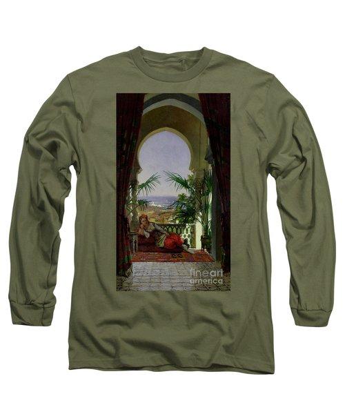 An Odalisque On A Terrace Long Sleeve T-Shirt