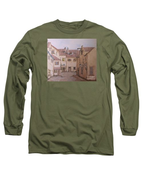 Long Sleeve T-Shirt featuring the painting An Ode To Charles Dickens  by Annemeet Hasidi- van der Leij