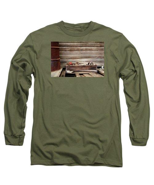 An Old Wooden Toolbox Long Sleeve T-Shirt by Lynn Jordan