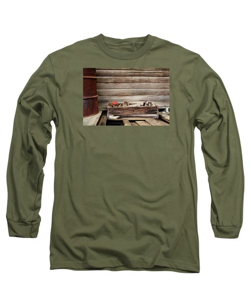 An Old Wooden Toolbox Long Sleeve T-Shirt