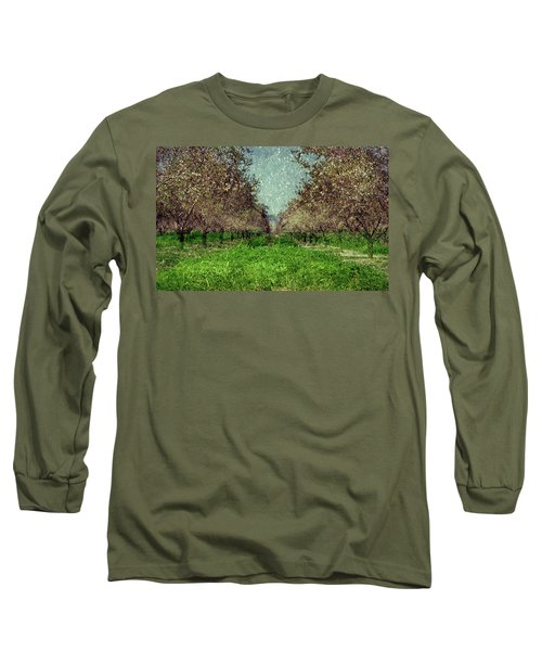 An Orchard In Blossom In The Eila Valley Long Sleeve T-Shirt