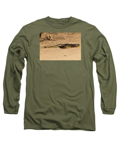 Anaconda Crossing Transpantaneira Long Sleeve T-Shirt by Aivar Mikko