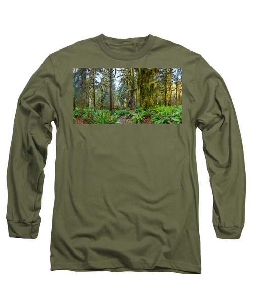 Ancient Forest Panorama Long Sleeve T-Shirt