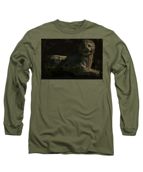 Long Sleeve T-Shirt featuring the photograph Ancient Lion - Nocisia  by Jim Vance