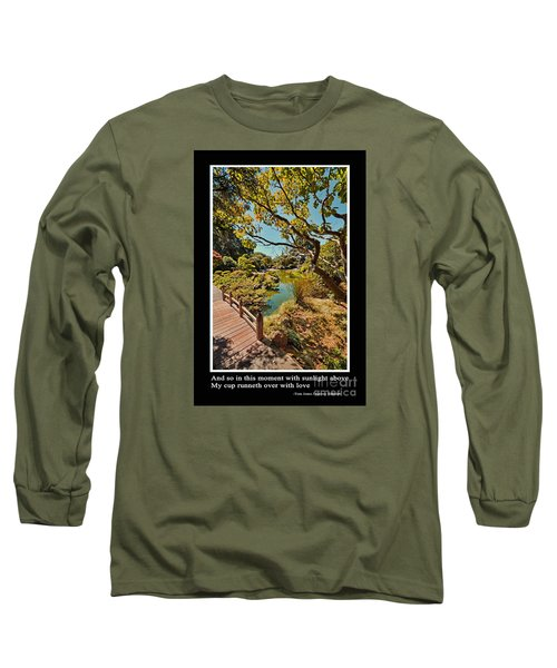 And So In This Moment With Sunlight Above Long Sleeve T-Shirt by Jim Fitzpatrick