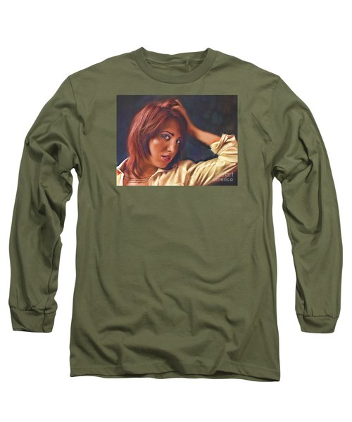 Long Sleeve T-Shirt featuring the photograph Angel  No. 14... by Chuck Caramella