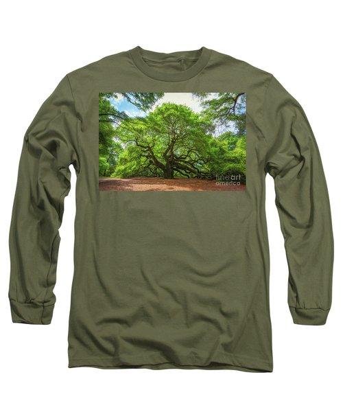 Angel Oak Tree In South Carolina  Long Sleeve T-Shirt