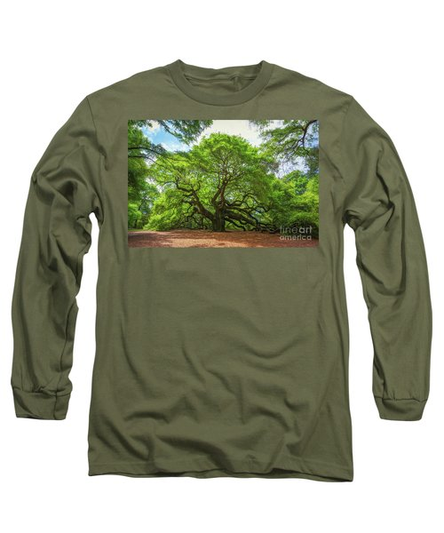 Angel Oak Tree In South Carolina  Long Sleeve T-Shirt