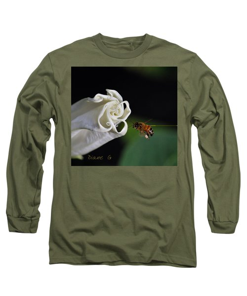 Angel Trumpet Long Sleeve T-Shirt by Diane Giurco