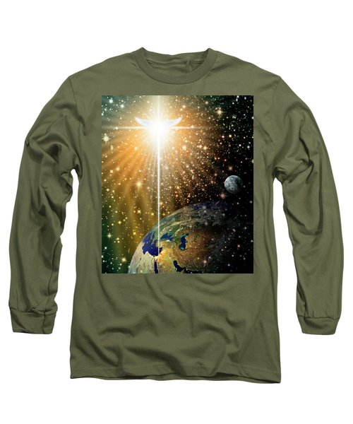 Angelic Star Over Bethlehem Long Sleeve T-Shirt by James Larkin