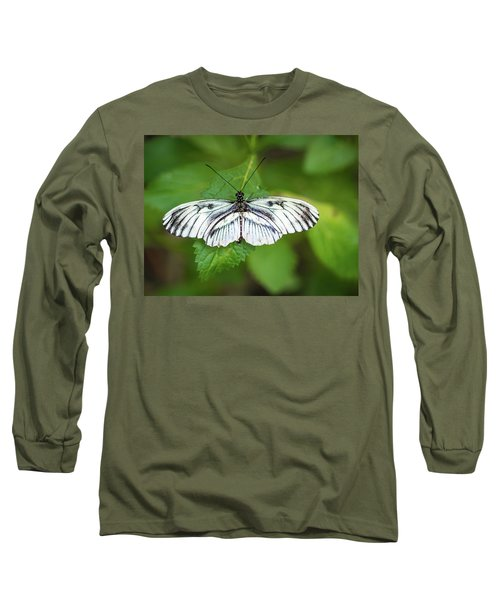 Angry Butterfly With A Mustache Long Sleeve T-Shirt