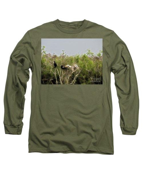 Anhinga Family Long Sleeve T-Shirt
