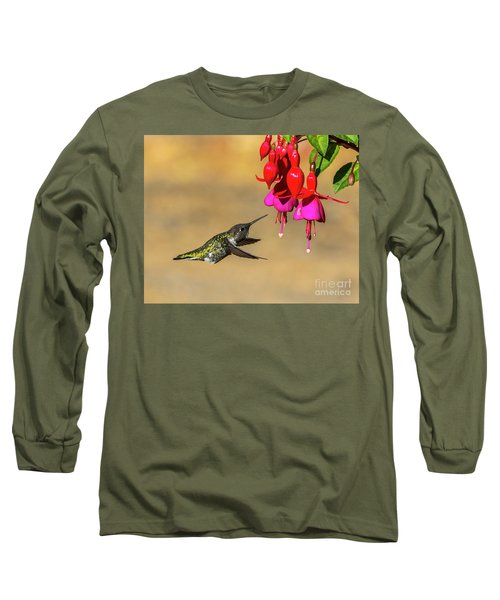 Anna And Hardy Fuchsia Flower Long Sleeve T-Shirt