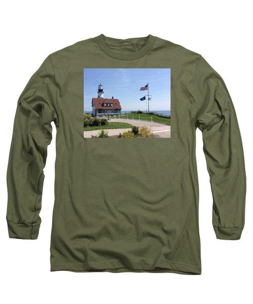 Portland Lighthouse ----- Edit Long Sleeve T-Shirt