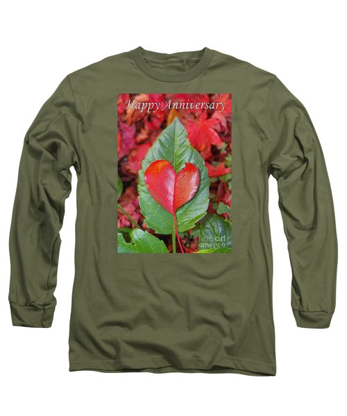 Anniversary Nature Greeting Card Long Sleeve T-Shirt by Debra Thompson