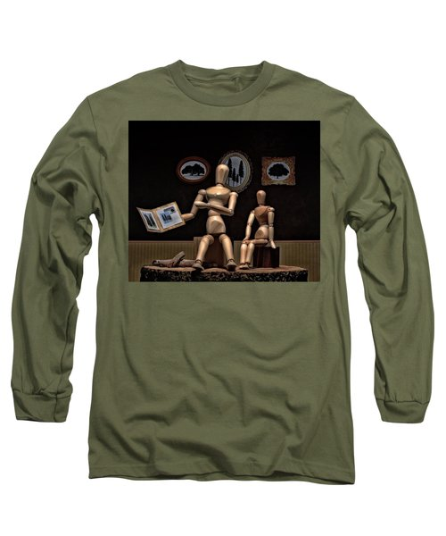 Another Recounting Of The Woody Family History Long Sleeve T-Shirt by Mark Fuller