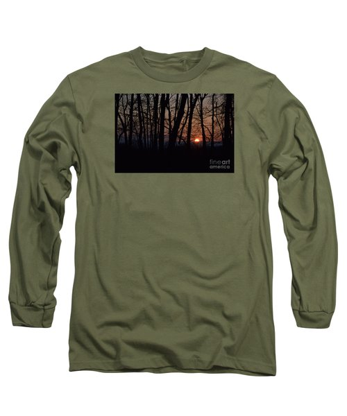 Another Sunrise In The Woods Long Sleeve T-Shirt by Mark McReynolds