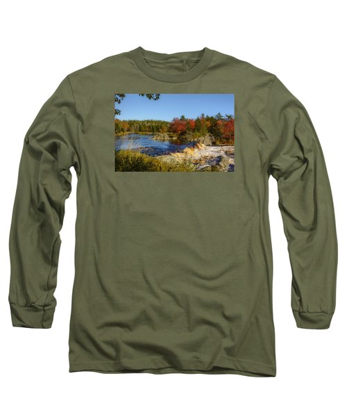 Another View Of Liscombe Falls Long Sleeve T-Shirt by Ken Morris
