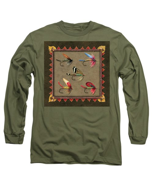 Antique Fly Panel Long Sleeve T-Shirt by JQ Licensing