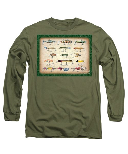 Antique Lures Panel Long Sleeve T-Shirt by JQ Licensing