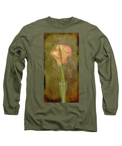 Antiqued Lilies Long Sleeve T-Shirt