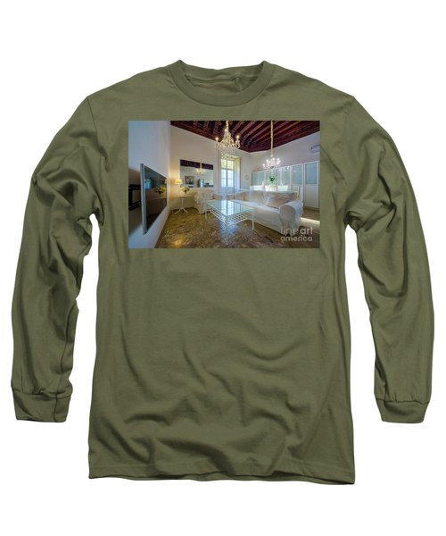 Long Sleeve T-Shirt featuring the photograph Apartment In The Heart Of Cadiz 17th Century by Pablo Avanzini